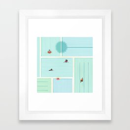 Saturdays At The Pool Framed Art Print