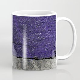 Urban Photography - Road Markings Tire Tracks - Purple Coffee Mug