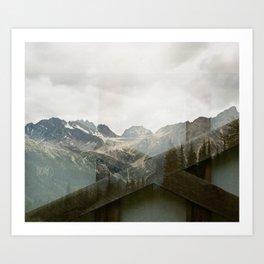 Mountain Foundations  Art Print