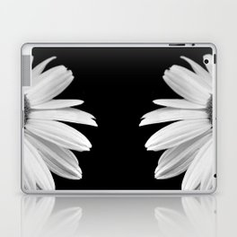 Half Daisy in Black and White Laptop & iPad Skin
