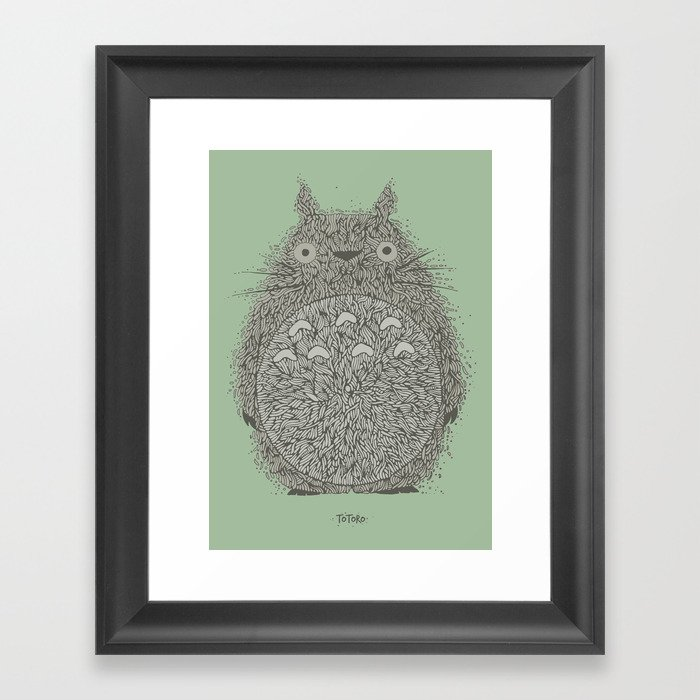 Green Totoro Gerahmter Kunstdruck