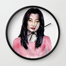 Korean girl Wall Clock