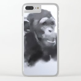 Animals and Art - young Chimp Clear iPhone Case