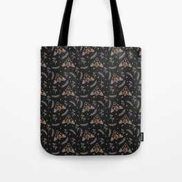 Death's-head hawkmoth floral pattern Tote Bag