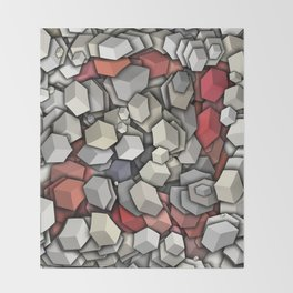 Chaotic 3D Cubes Throw Blanket