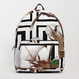 Cotton Flower Pattern 07 Backpack