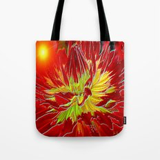 Sunburst Dahlia Tote Bag