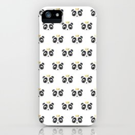 Panda King [Pattern] iPhone Case