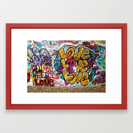 Prague: Famous Wall Owned by Knights of Malta Framed Art Print