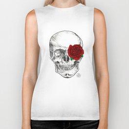Rose Skull Biker Tank