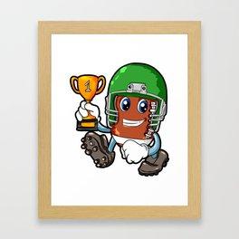 American FOOTBALL CHAMPION Trophy Son Present Framed Art Print