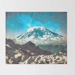 Mt Adams from Mt Rainier Washington State - Nature Photography Throw Blanket