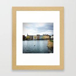 Cloudy, But Friday Framed Art Print