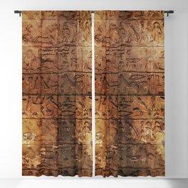 Ancient Messages - Egyptian Hieroglyphs Blackout Curtain