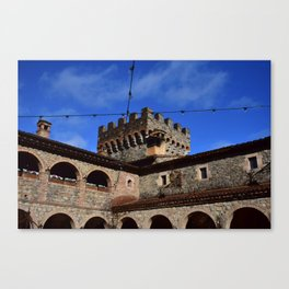 In the Courtyard Canvas Print