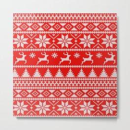 Fair Isle Christmas Metal Print