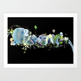 Oxygen CO2 Art Print