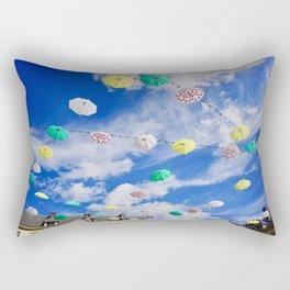 Colourful Umbrellas Rectangular Pillow