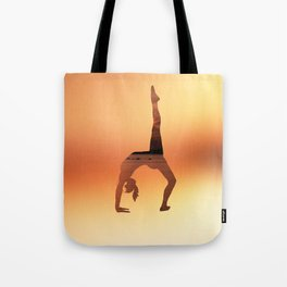 Yoga - One Legged Wheel Pose Tote Bag