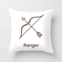 Cute Dungeons and Dragons Ranger class Throw Pillow