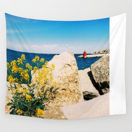 Piran, Mediterranean Sea, Color Film Photo Wall Tapestry