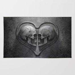Gothic Skull Heart Rug