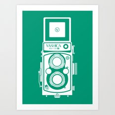 Yashica Mat 124G Camera Emerald Art Print