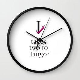 It takes two to tango Wall Clock
