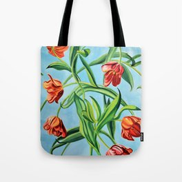 Happy Tulips Tote Bag