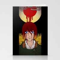shingeki no kyojin Stationery Cards featuring Shingeki no Kyojin - Armin card by kamikaze43v3r