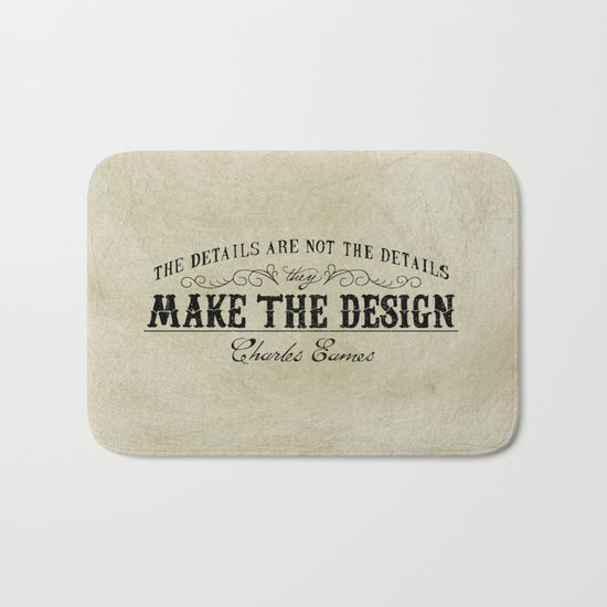 The Details are not the Details Bath Mat