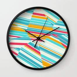 Coral Reef - Voronoi Stripes Wall Clock