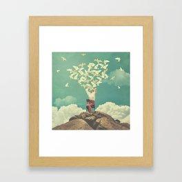 Pigeon Composer Framed Art Print