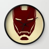 ironman Wall Clocks featuring IRONMAN by agustain