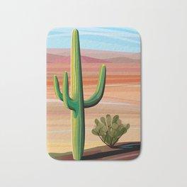 Saguaro Cactus in Desert Bath Mat