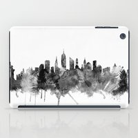 new york skyline iPad Cases featuring New York City Skyline by artPause