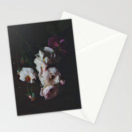 English Roses Still Life - Dark Number Two Stationery Cards