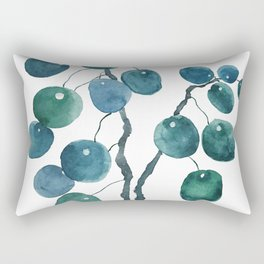 Chinese money plant watercolor Rectangular Pillow