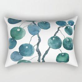 Chinese money plant watercolor Rectangular Pillow