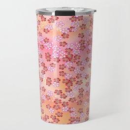 Rosa Blümchen Travel Mug