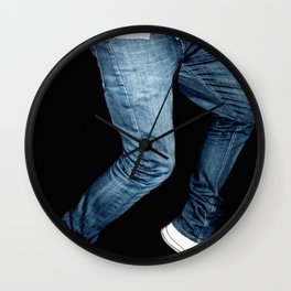 blue jeans on  Wall Clock