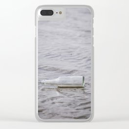 Message In A Bottle Clear iPhone Case