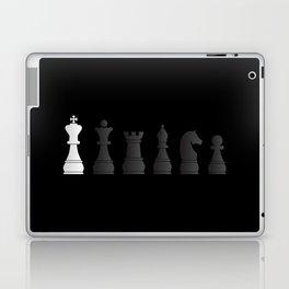 All black one white chess pieces Laptop & iPad Skin