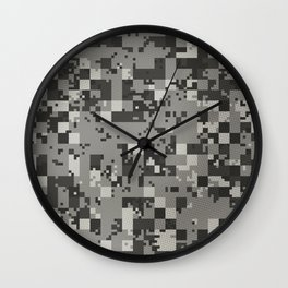 Digital Camo Urban Wall Clock