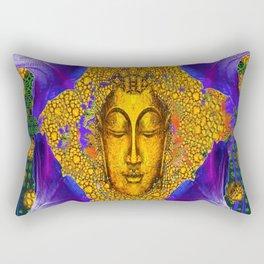 PURPLE MORNING GLORY GOLDEN BUDDHA FACE Rectangular Pillow