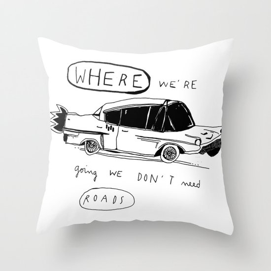 OFF TO BROOKLYN Throw Pillow