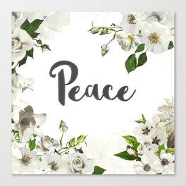 FLORAL DESIGN PEACE Canvas Print