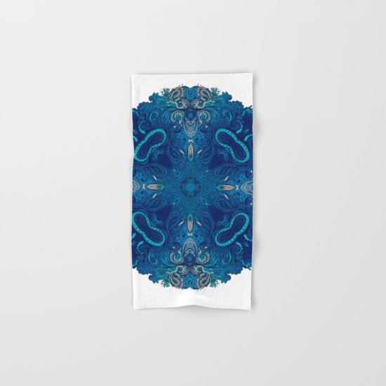 Blue Cobalt Indian Mandala Hand & Bath Towel