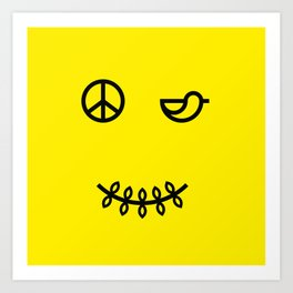 SMILE FOR PEACE Art Print