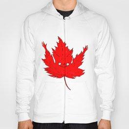 Happy Canada! Enthusiastic Maple Leaf. Hoody
